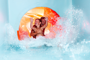 Waterslide in thermal park THERME LOSINY